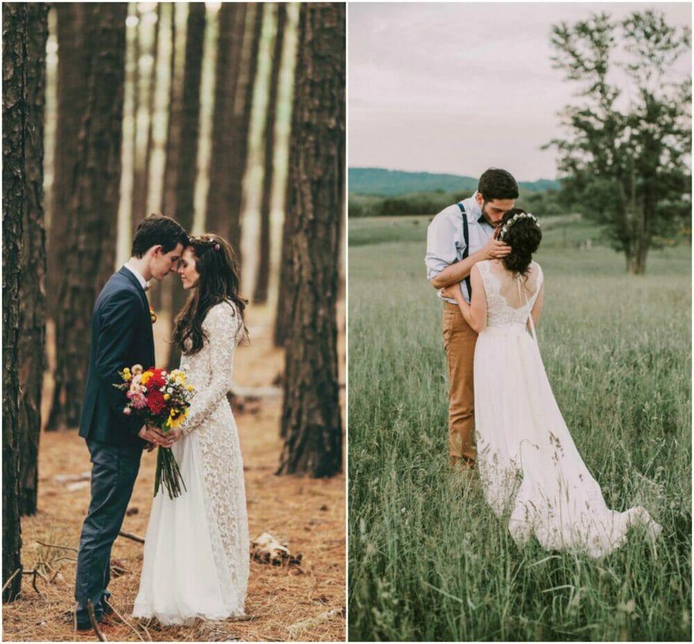 novios boda rustica