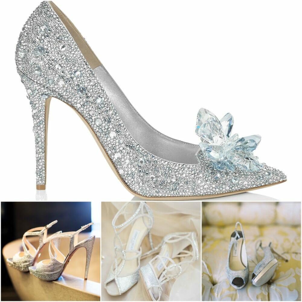 zapatos cristales
