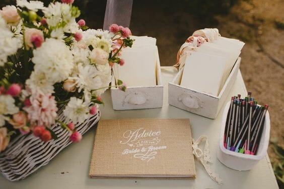 boda decoracion libros