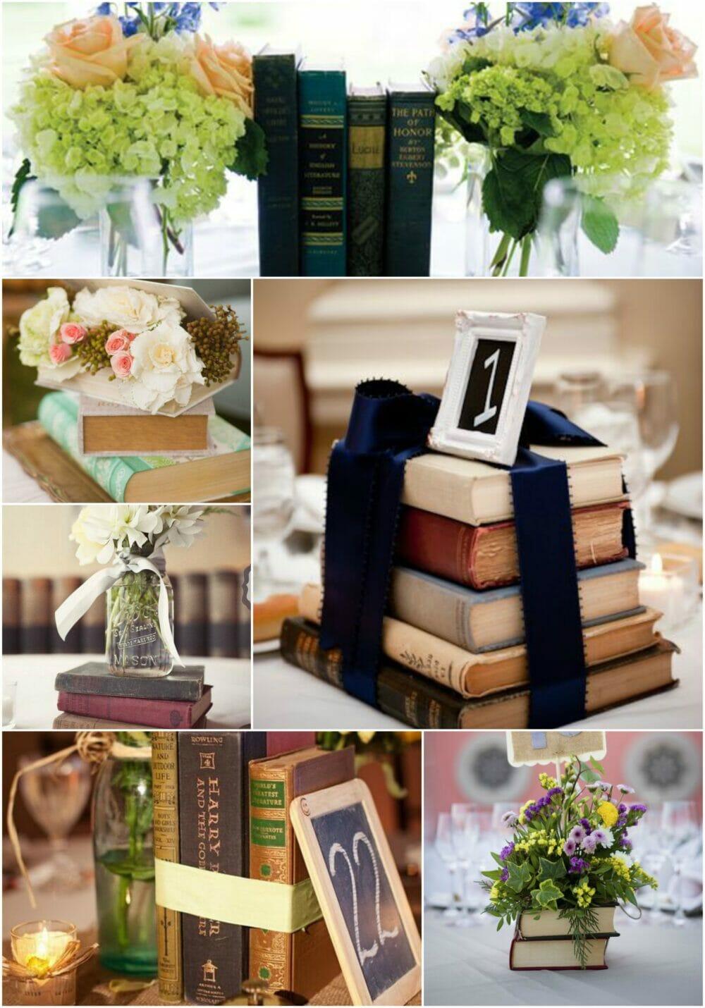 centros de mesa libros