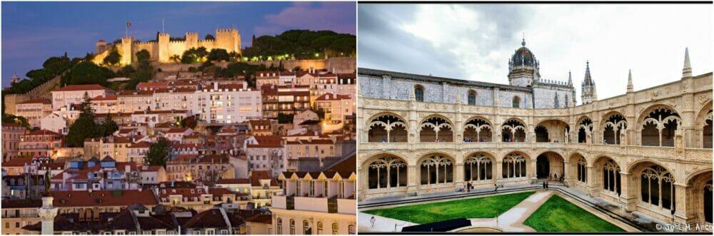 castillo san jorge y monasterio de los jeronimos