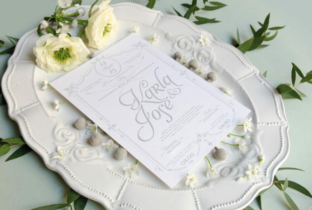 Tendencia de invitaciones para bodas 2019 for Boda vintage